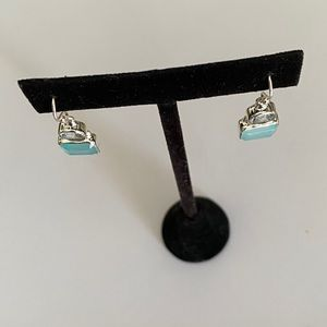 STERLING SILVER GENUINE GEMSTONE EARRINGS